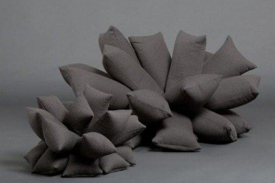 Originalus ir unikalus sofos dizainas: raizgynė