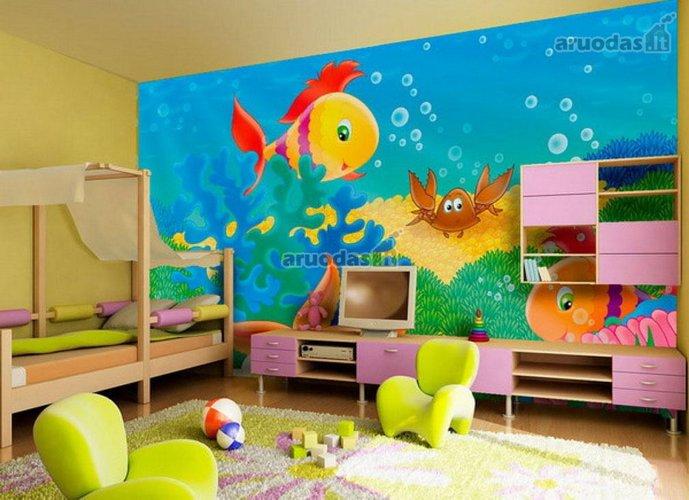 Jūros kacentai vaikų kambaryje
