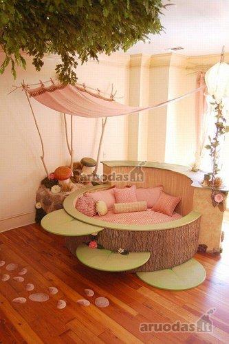 Originali mergaitės lovos idėja