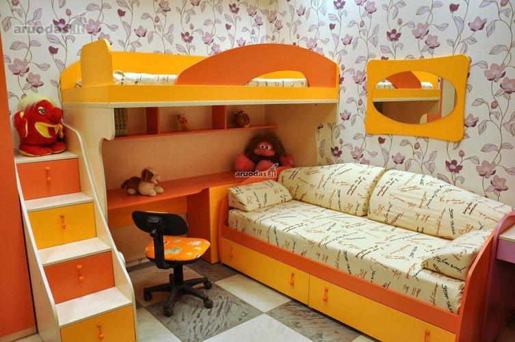 Funkcionalus vaiko kambario dizainas