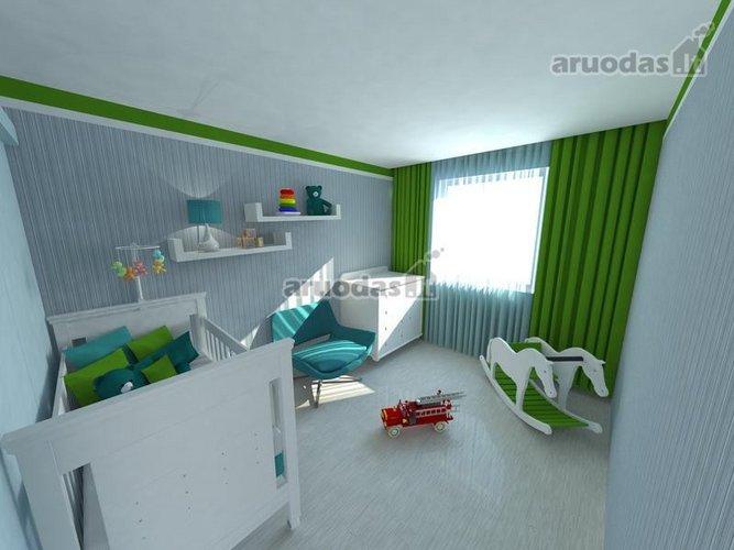 Erdvaus kūdikio kambario interjeras