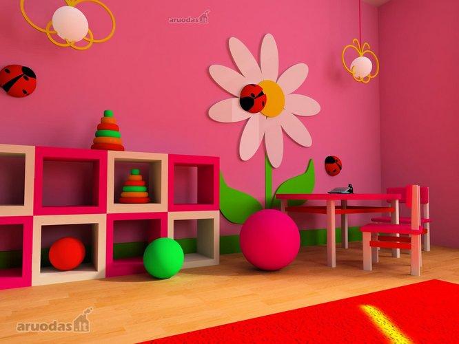 Gėlių ir boružėlių dekoracijos
