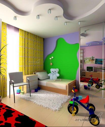 Ryškių spalvų berniuko kambarys