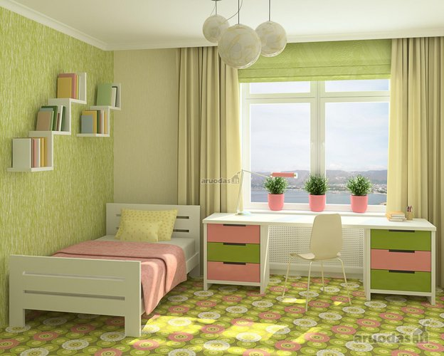 Praktiškas vaiko kambario dizainas