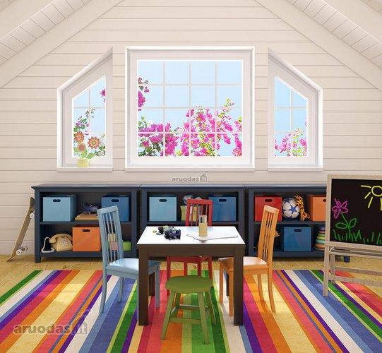 Kambario akcentas - ryškus kilimas