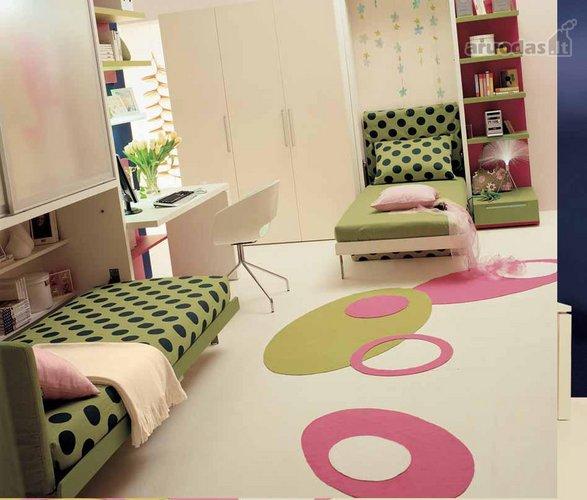 Dviejų lovų vaikų kambarys