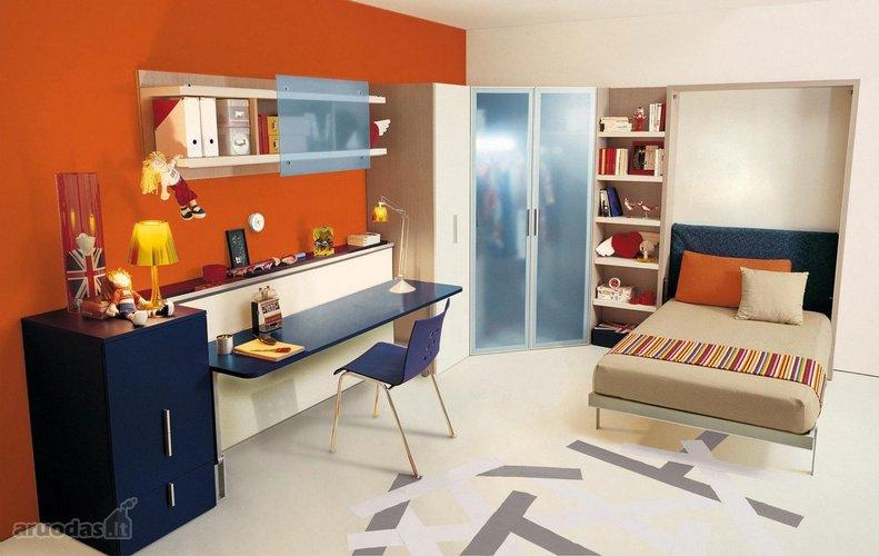Modernus jaunuolio kambarys