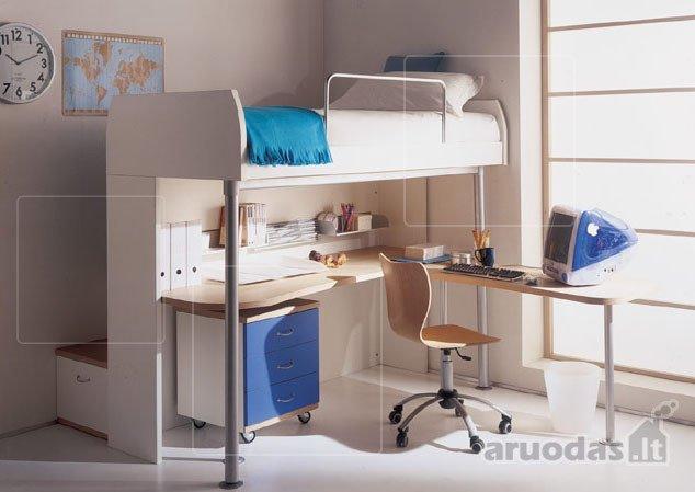 Konstruktyvus paauglio kambario dizainas