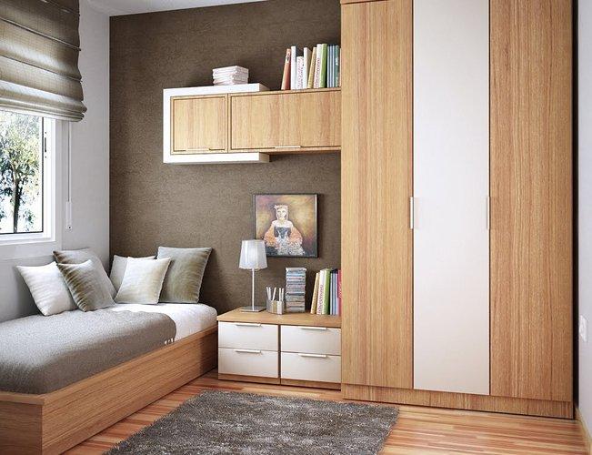 Mažos erdvės vaiko kambarys