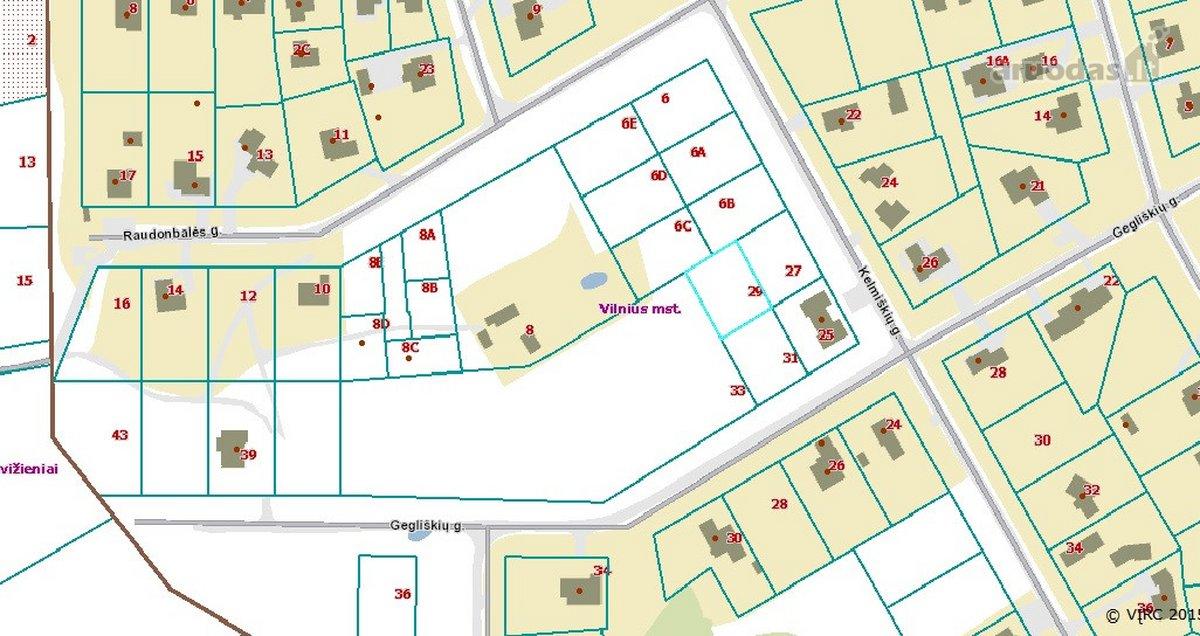 Vilnius, Tarandė, Gegliškių g., namų valdos paskirties sklypas