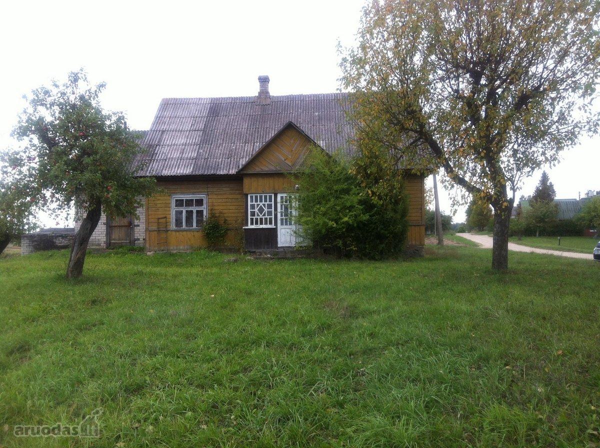 Trakų r. sav., Jurgionių k., Dvaro g., medinė sodyba