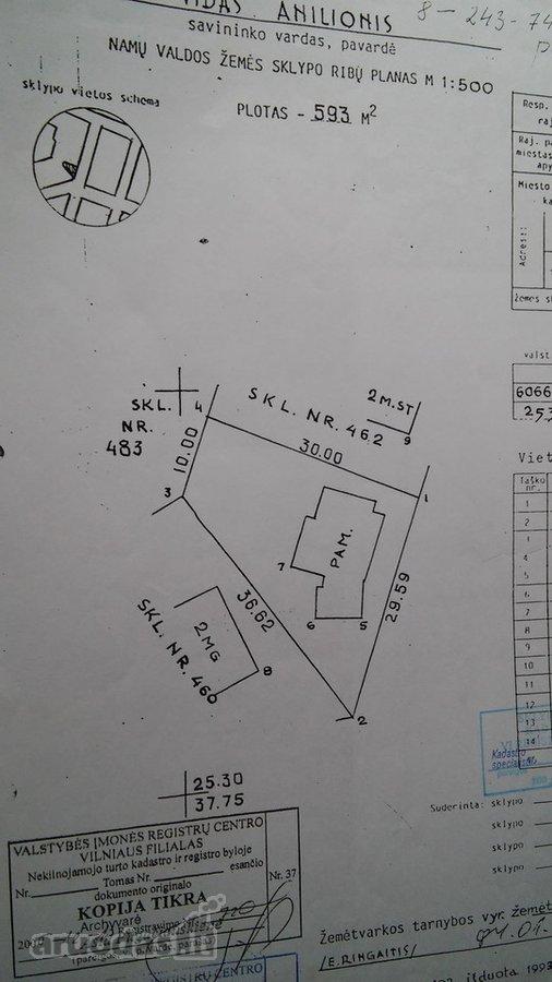 Vilnius, Naujoji Vilnia, D. Malinausko g., namų valdos paskirties sklypas