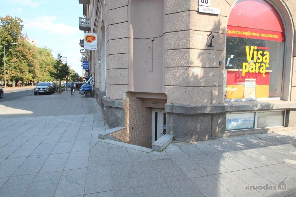 Vilnius, Senamiestis, Gedimino pr., biuro, prekybinės, paslaugų, maitinimo paskirties patalpos nuomai