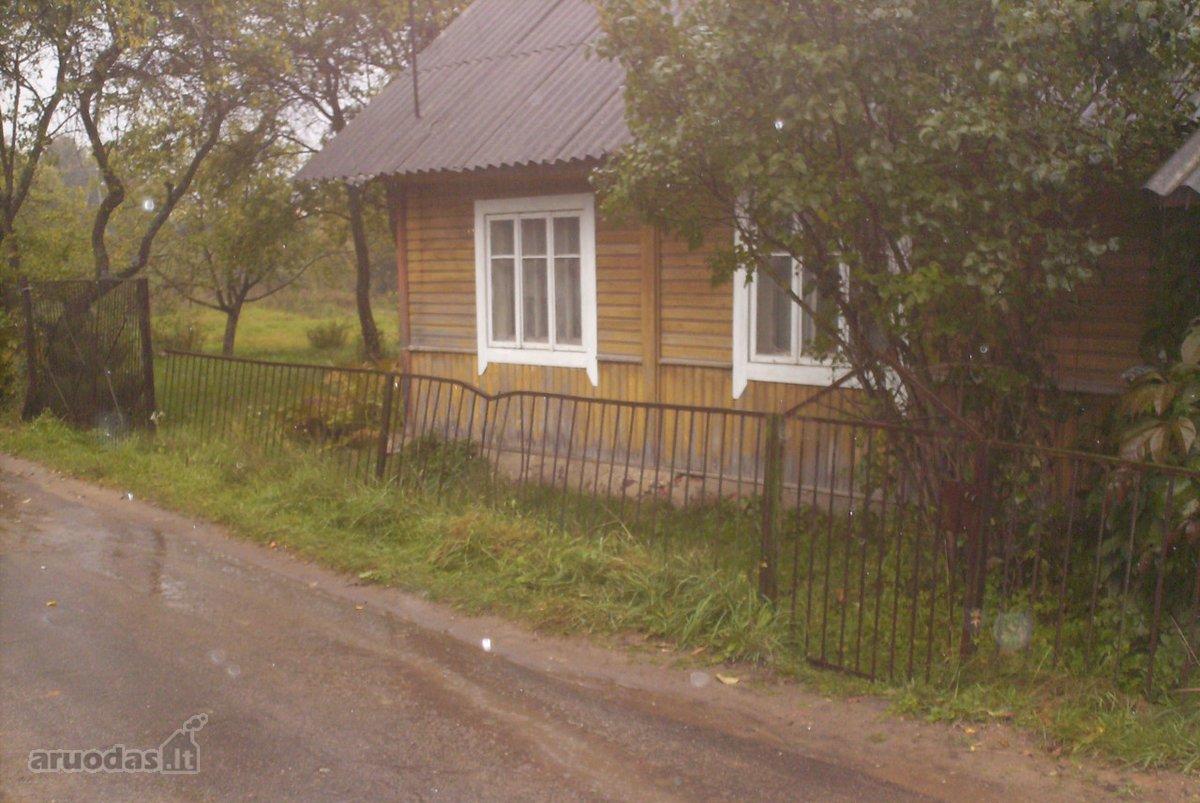 Vilniaus r. sav., Kalvelių k., Geležinkelio g., rąstinis namas
