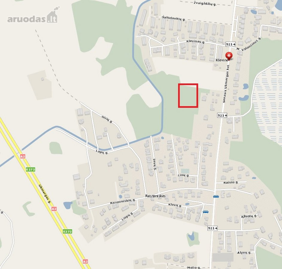 Vilniaus r. sav., Klevinės vs., namų valdos paskirties sklypas