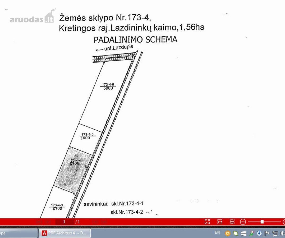 Kretingos r. sav., Lazdininkų k., Tvenkinio g., žemės ūkio, Kita paskirties sklypas