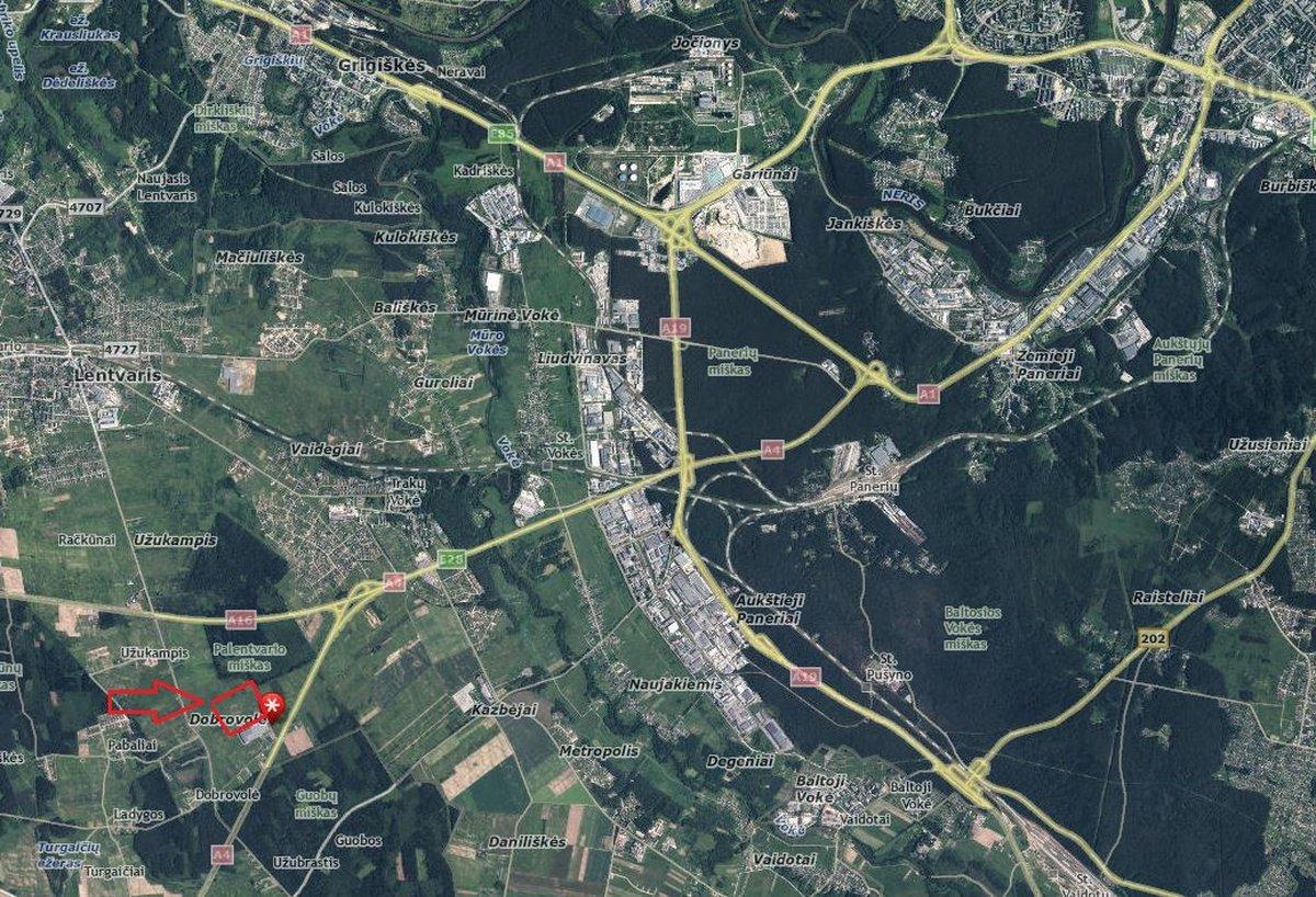 Vilniaus m. sav., Dobrovolės k., sandėliavimo paskirties patalpos nuomai