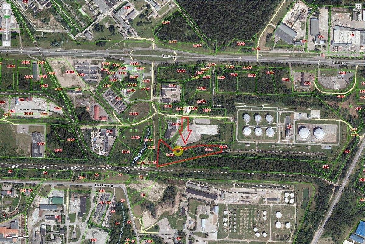 Kaunas, Taikos pr., gamybinės, sandėliavimo paskirties sklypas