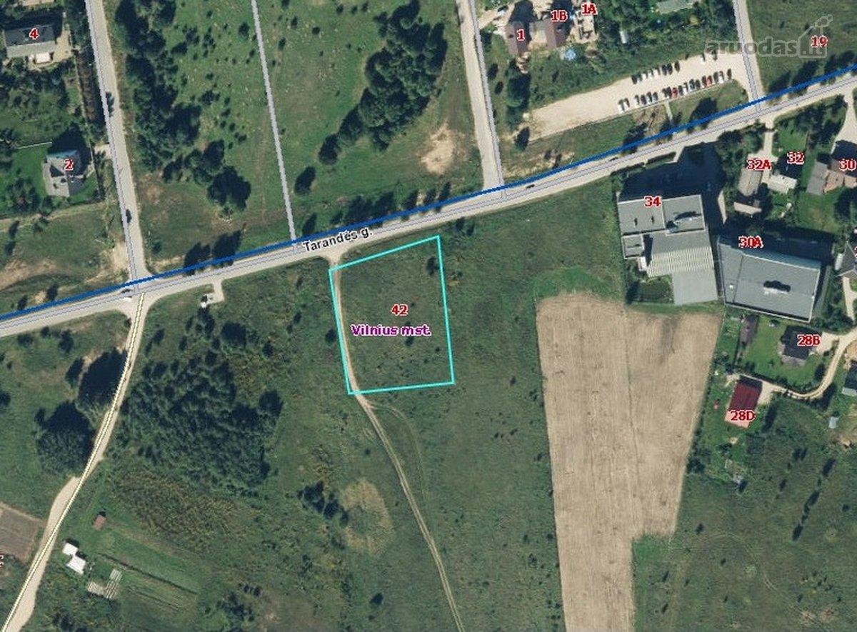 Vilnius, Tarandė, Tarandės g., namų valdos, daugiaaukštės statybos, Kita paskirties sklypas