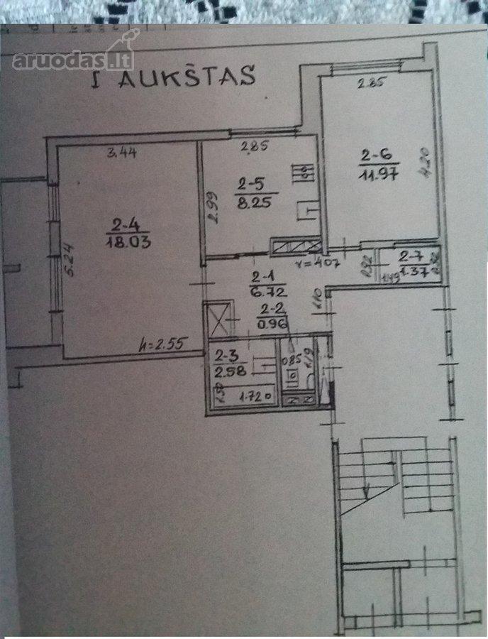 Alytus, Vidzgiris, Statybininkų g., 2 kambarių butas