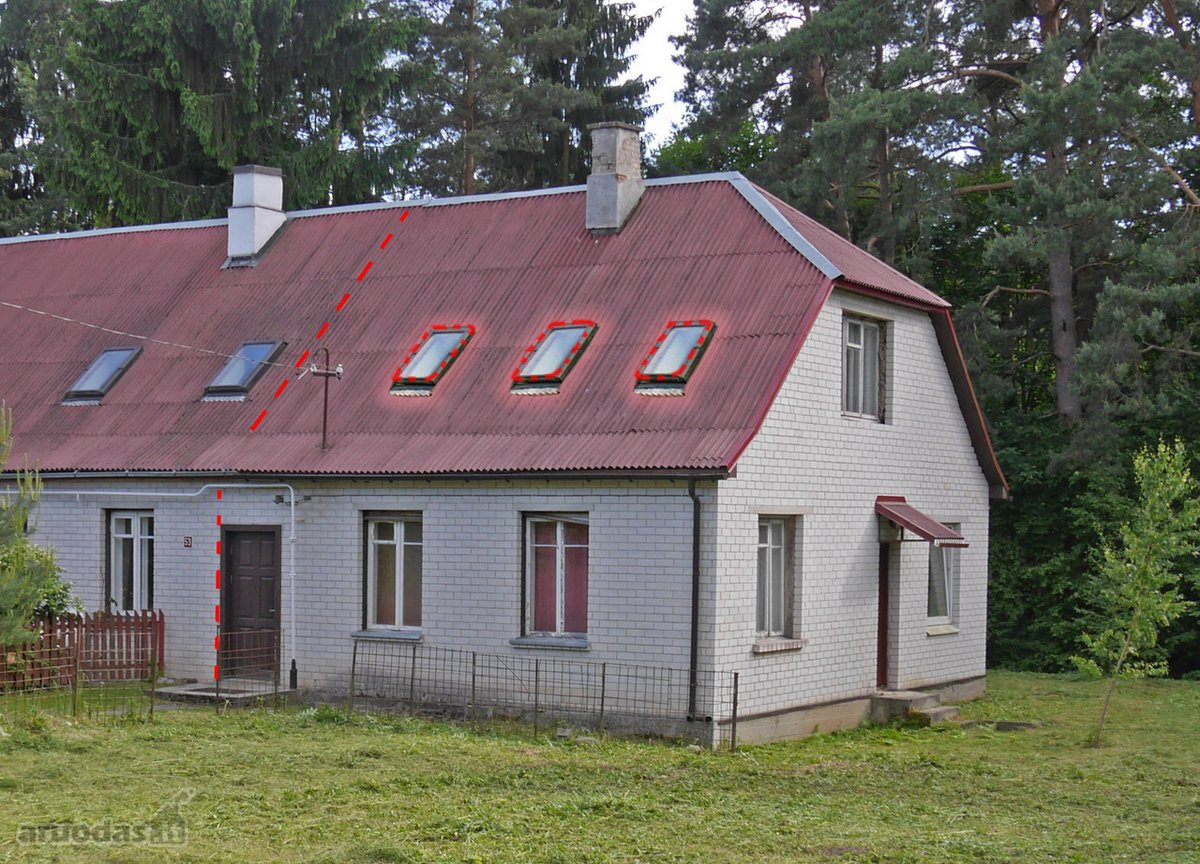Vilnius, Antakalnis, Žirgo g., mūrinio namo dalis