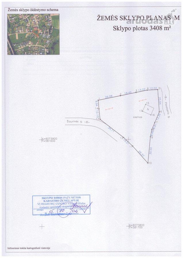 Vilniaus r. sav., Didžiosios Riešės k., Pavasario g., namų valdos paskirties sklypas