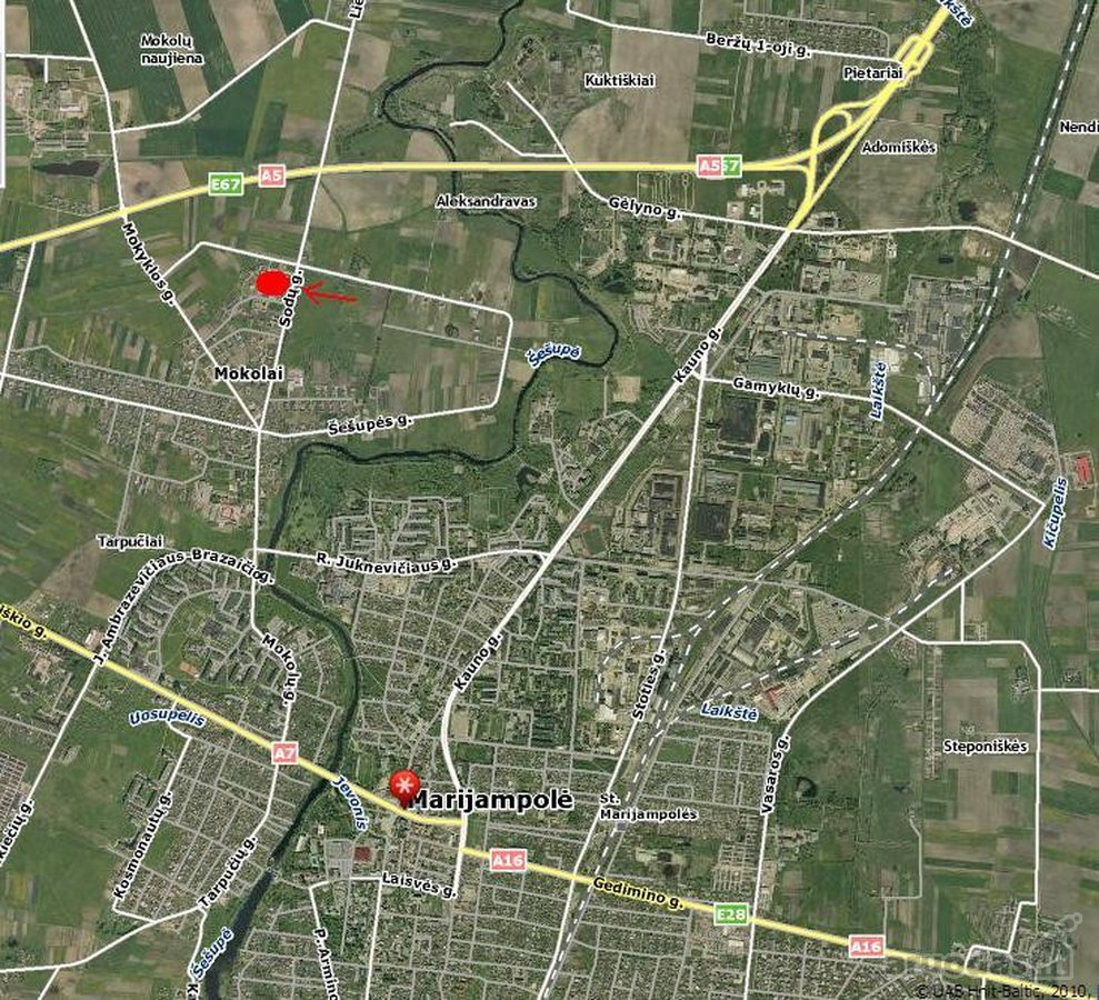 Marijampolės m., Mokolų kaimas, V. Šlekio g., namų valdos paskirties sklypas