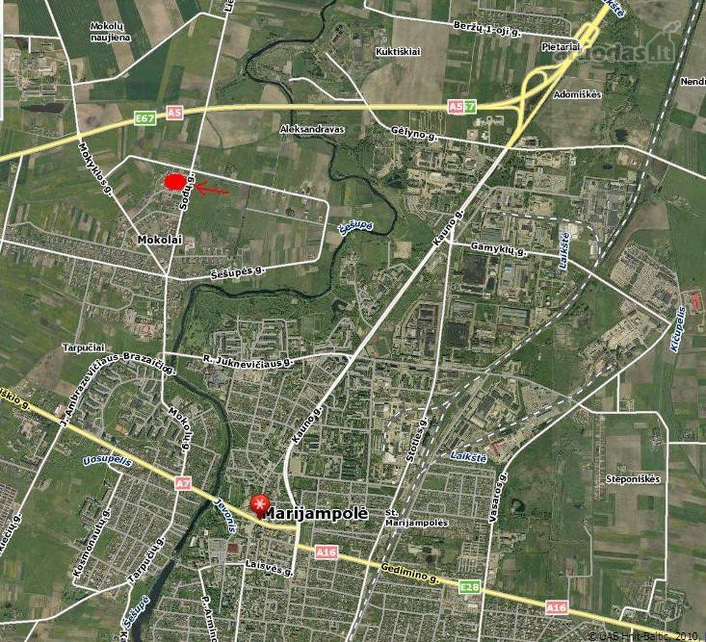 Marijampolės sav., Marijampolės m., Mokolų kaimas, V. Šlekio g., namų valdos paskirties sklypas