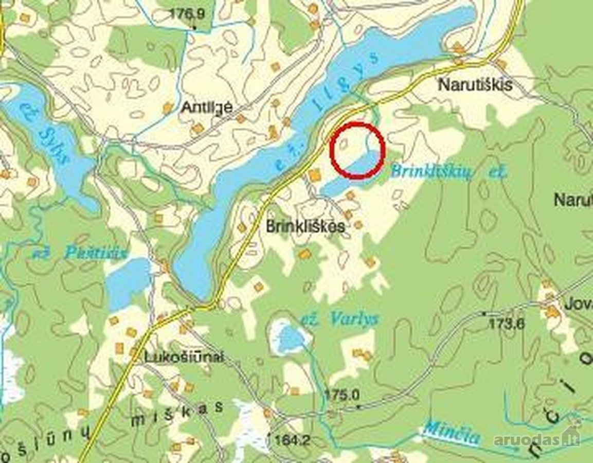 Utenos r. sav., Brinkliškių k., namų valdos paskirties sklypas