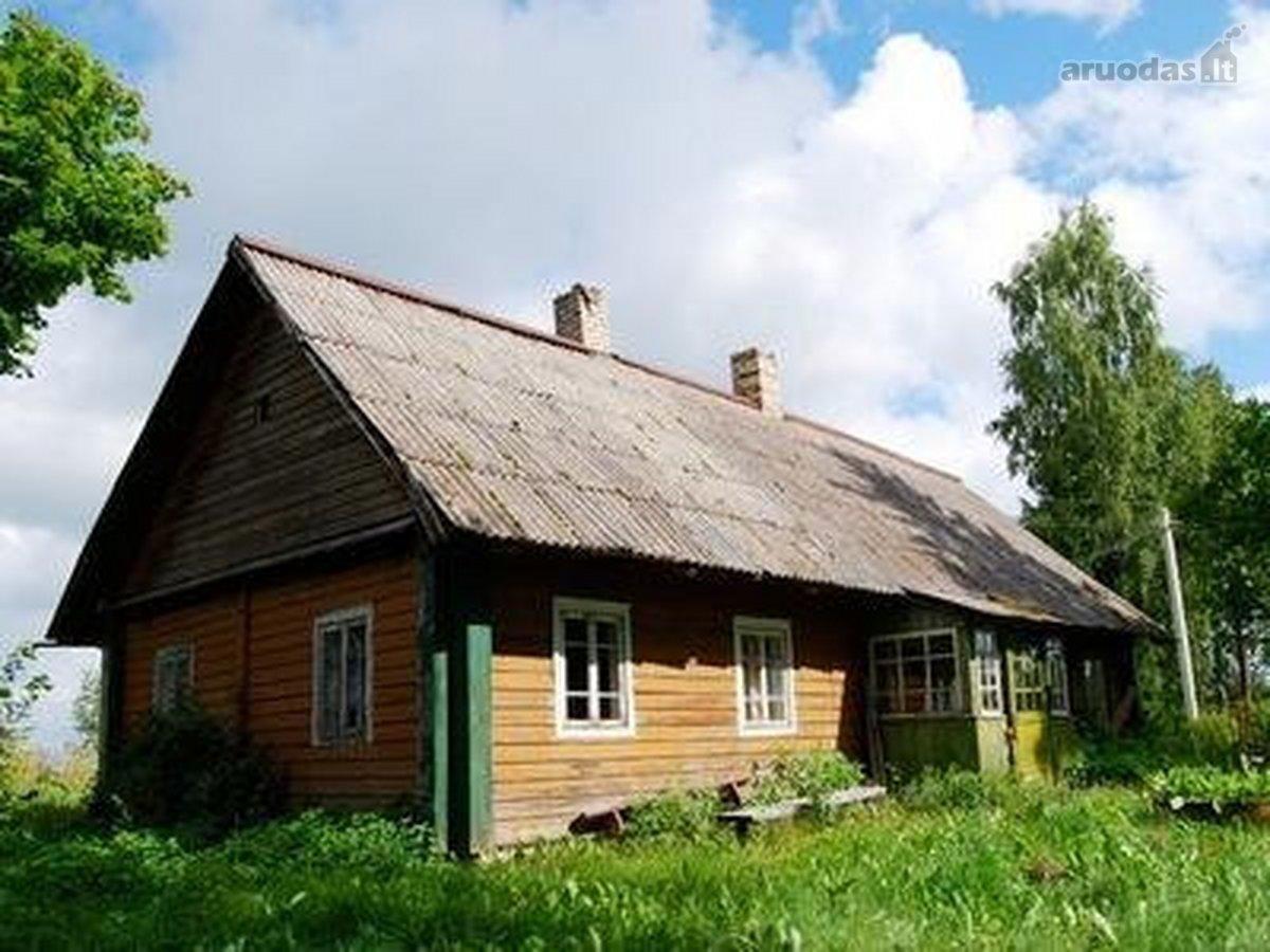 Trakų r. sav., Alešiškių I k., medinė sodyba