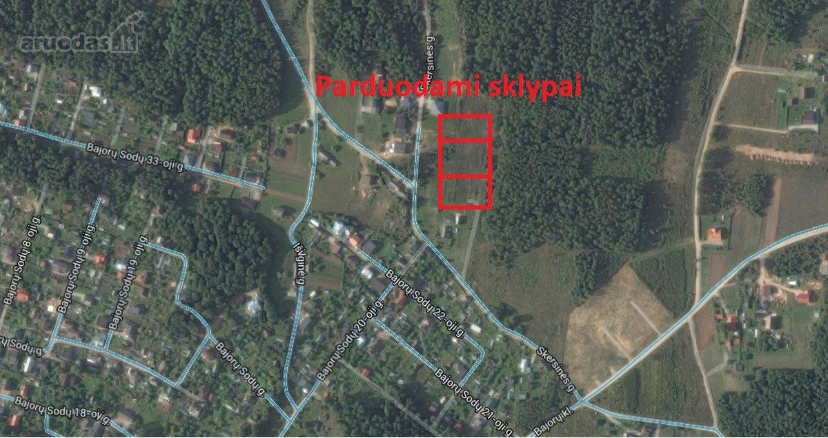 Vilnius, Bajorai, Skersinės g., namų valdos, daugiabučių statybos paskirties sklypas