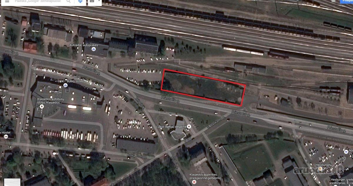 Klaipėda, Centras, daugiaaukštės statybos, komercinės paskirties sklypas
