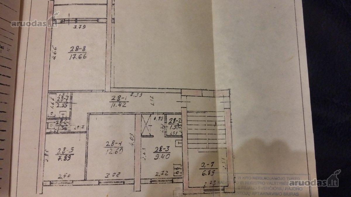 Švenčionių m., Taikos g., 3 kambarių butas