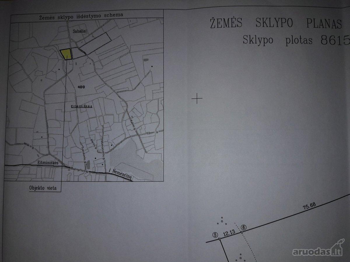 Vilniaus r. sav., Sabalių k., žemės ūkio paskirties sklypas