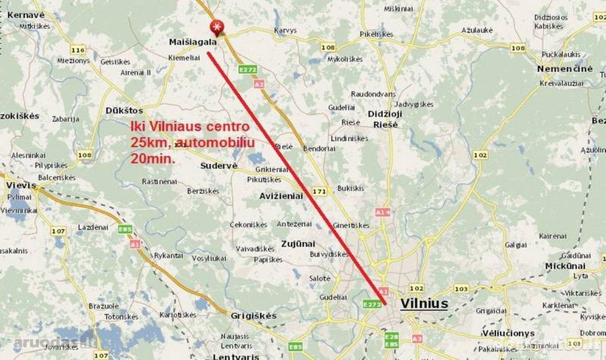 Vilniaus r. sav., Maišiagalos mstl., Studentų g., 2 kambarių butas