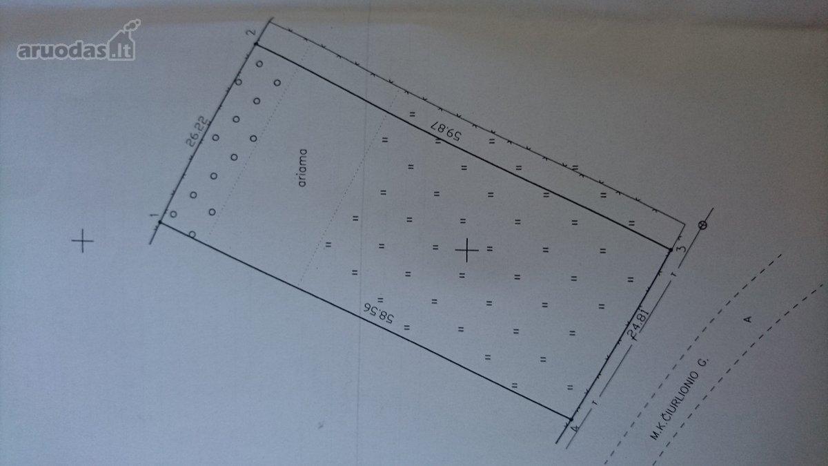 Kazlų Rūdos sav., Kazlų Rūdos m., M. K. Čiurlionio g., namų valdos paskirties sklypas