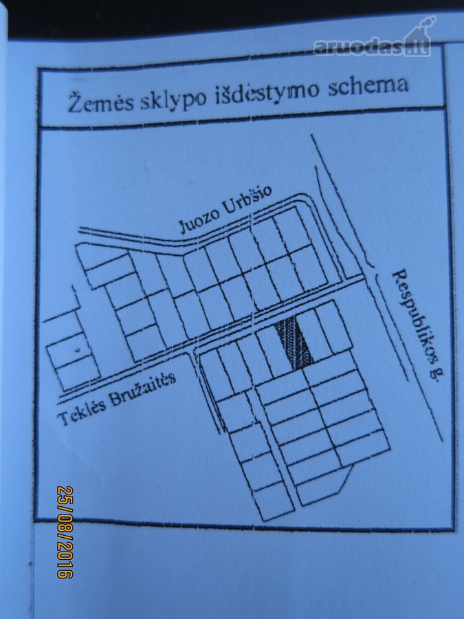 Kėdainių m., Teklės Bružaitės g., земля жилого фонда назначения участок