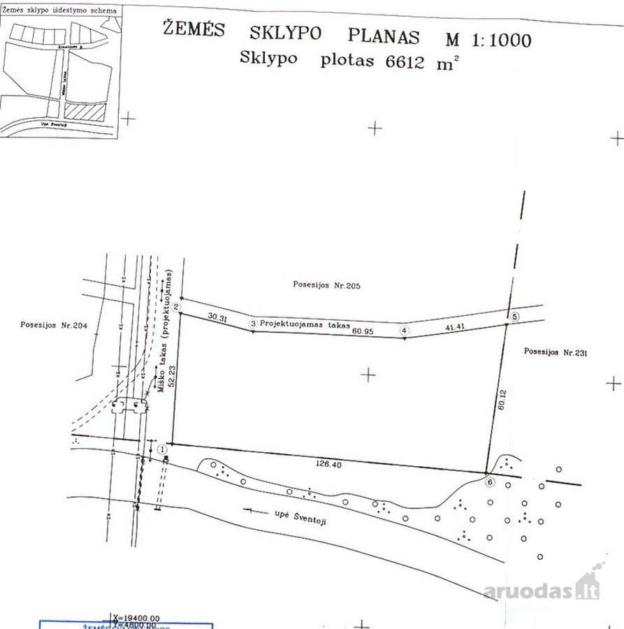 Palanga, Šventoji, Miško takas, komercinės paskirties sklypas