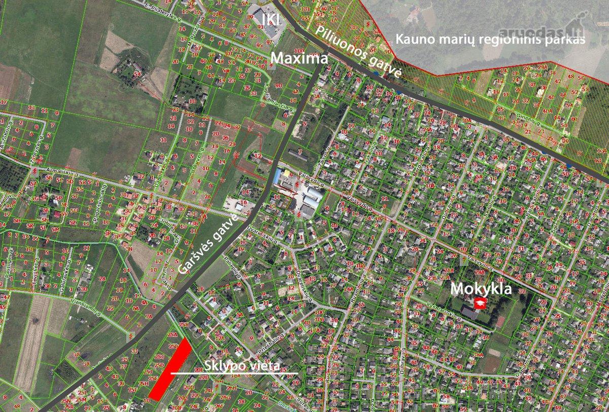 Kaunas, Vaišvydava, Garšvės g., namų valdos paskirties sklypas