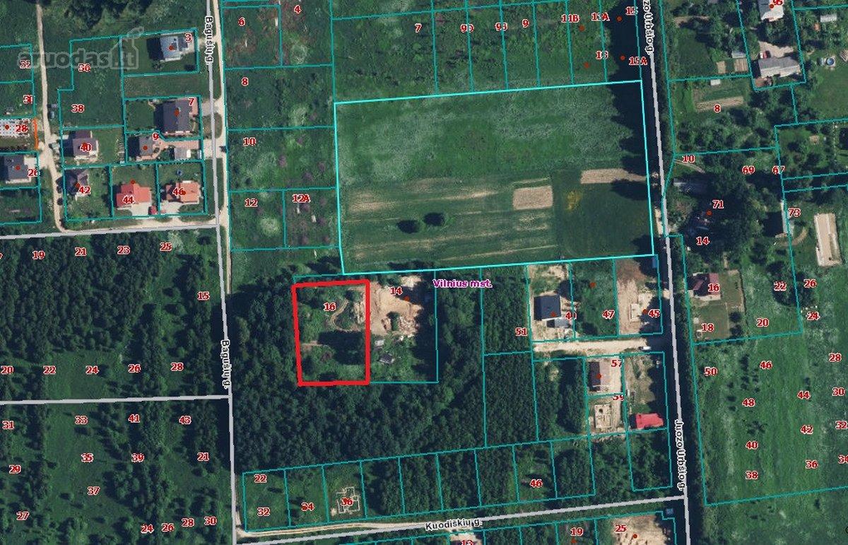 Vilnius, Bagušių g., namų valdos, kitos paskirties sklypas