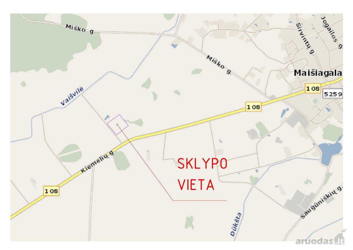 Vilniaus r. sav., Maišiagalos mstl., Kiemelių g., žemės ūkio paskirties sklypas