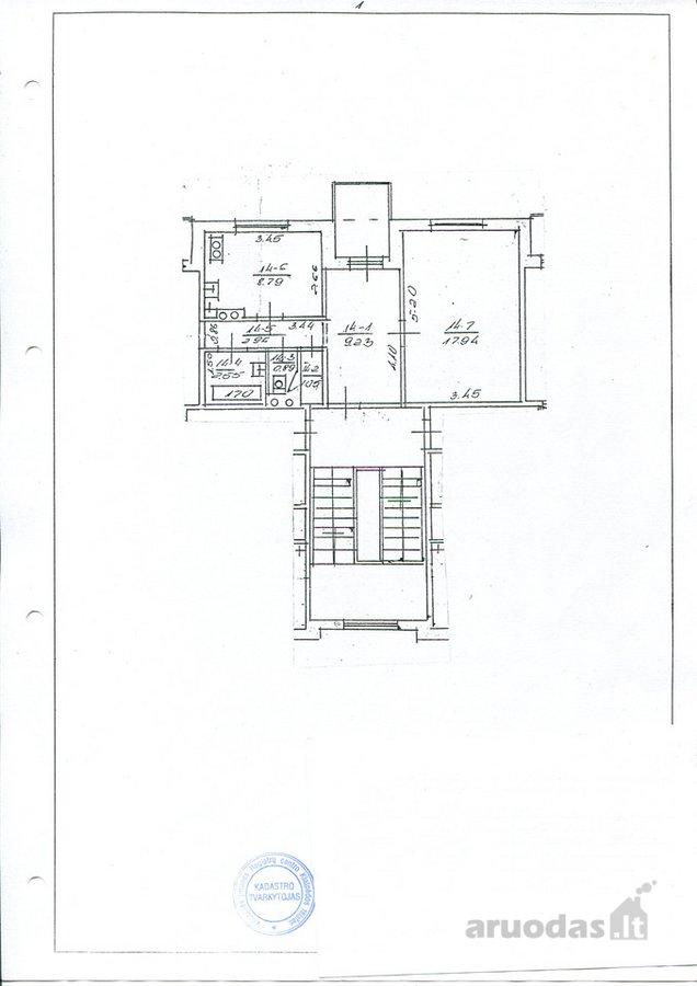 Kretingos r. sav., Kretingos m., Savanorių g., 1 kambario butas