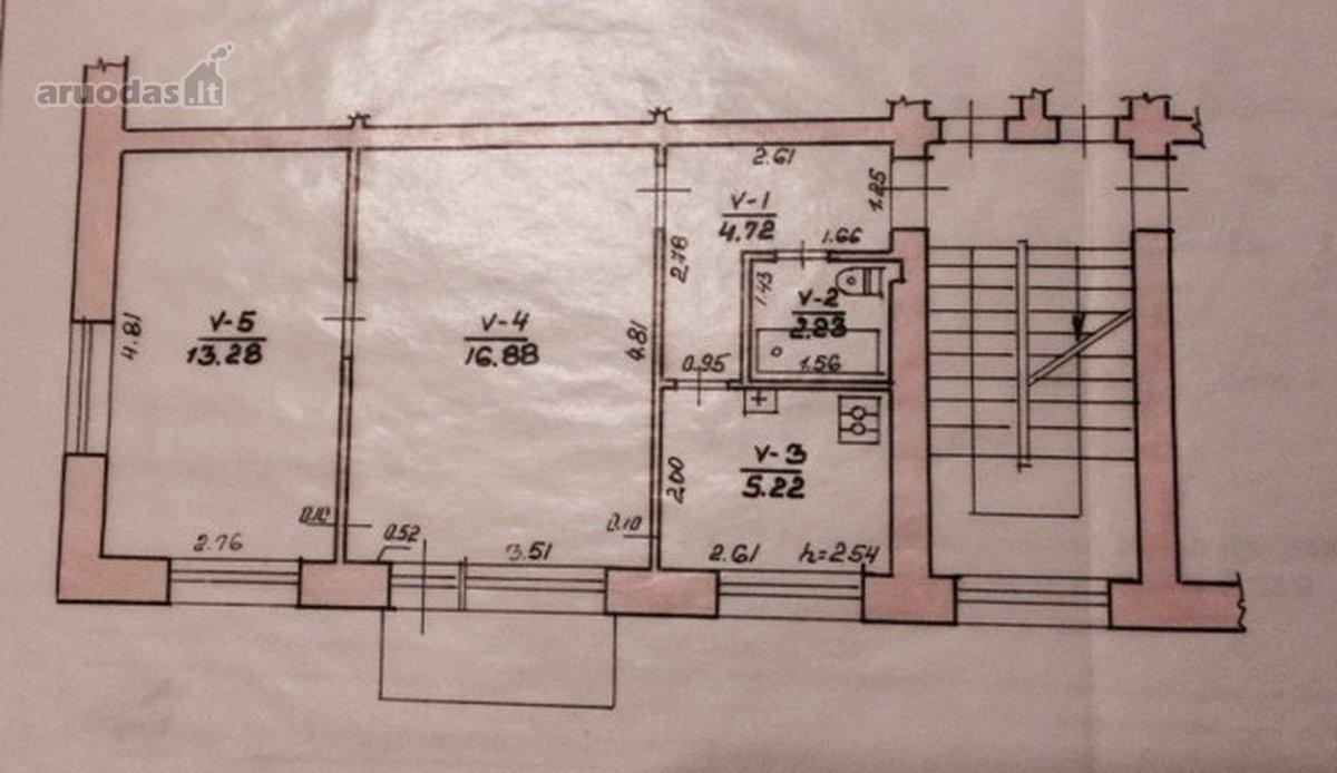 Šakių m., V. Kudirkos g., 2 kambarių butas