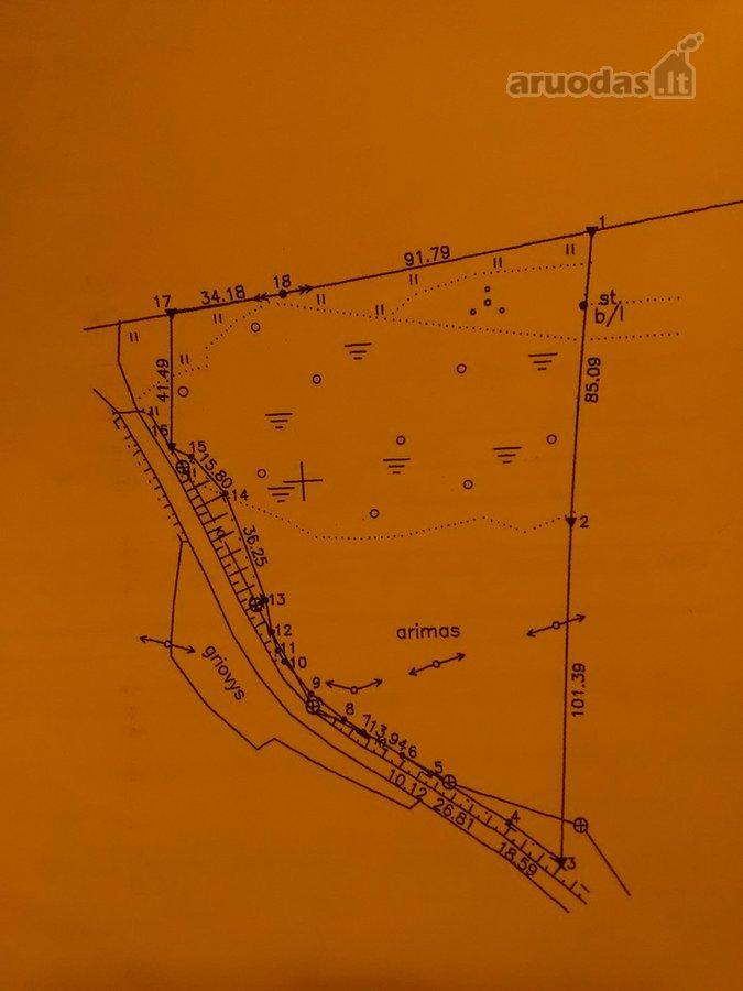 Utenos r. sav., Utenos m., namų valdos, sandėliavimo, komercinės paskirties sklypas