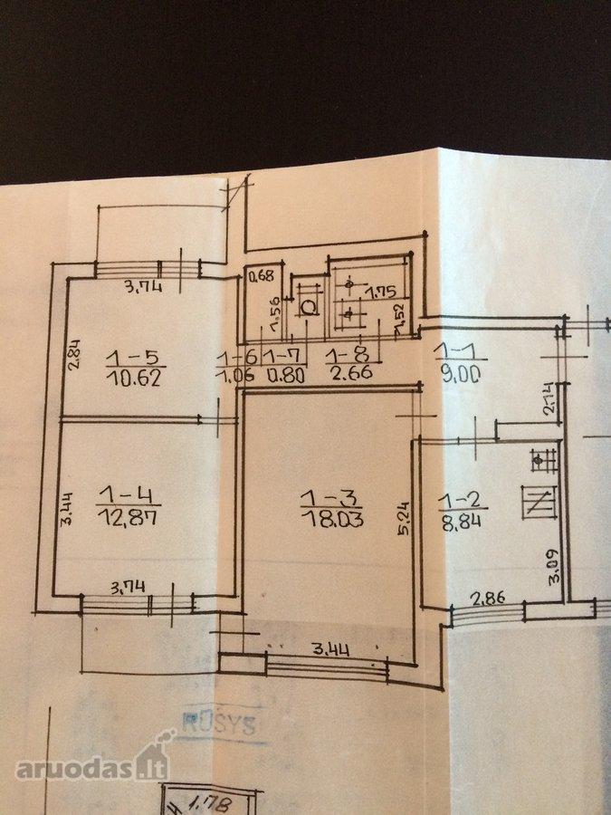 Elektrėnų m., Pergalės g., 3 kambarių butas