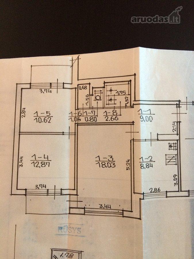 Elektrėnų sav., Elektrėnų m., Pergalės g., 3 kambarių butas