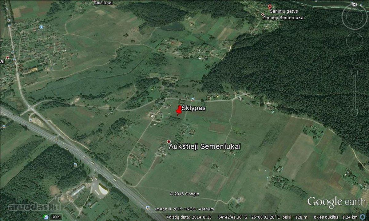 Trakų r. sav., Aukštųjų Semeniukų k., Šaltinių g., namų valdos paskirties sklypas