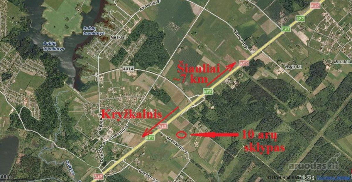 Šiaulių r. sav., Bubių k., Pušų g., namų valdos paskirties sklypas