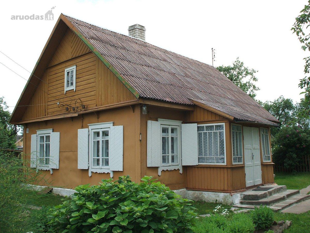 Širvintų r. sav., Barskūnų k., Mokyklos g., medinis namas
