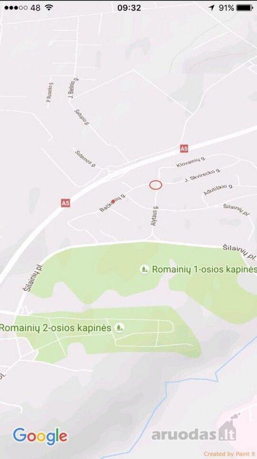 Kaunas, Šilainiai, Bačkonių g., namų valdos paskirties sklypas